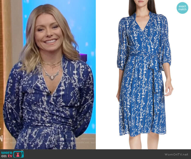 Folia Dress by ba&sh worn by Kelly Ripa (Kelly Ripa) on Live with Kelly & Ryan