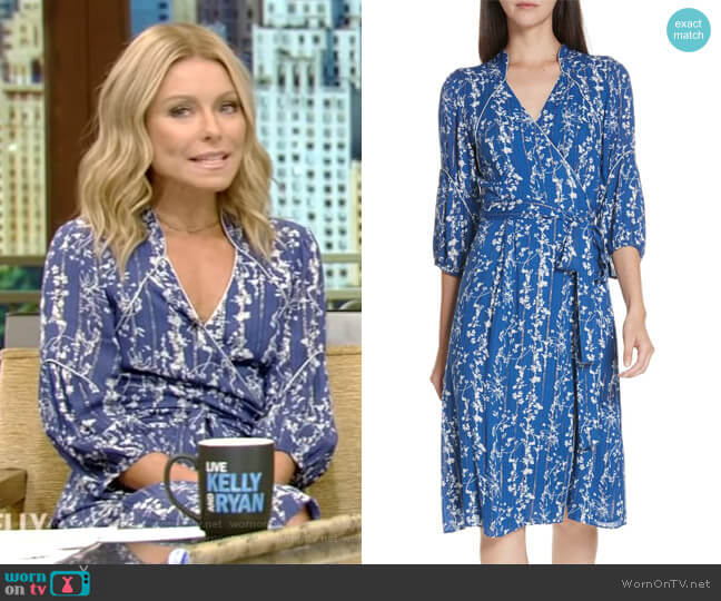 Folia Dress by ba&sh worn by Kelly Ripa on Live with Kelly & Ryan