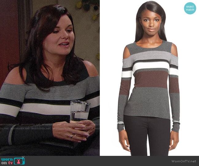 Bailey 44 Astor Top worn by Heather Tom on The Bold & the Beautiful