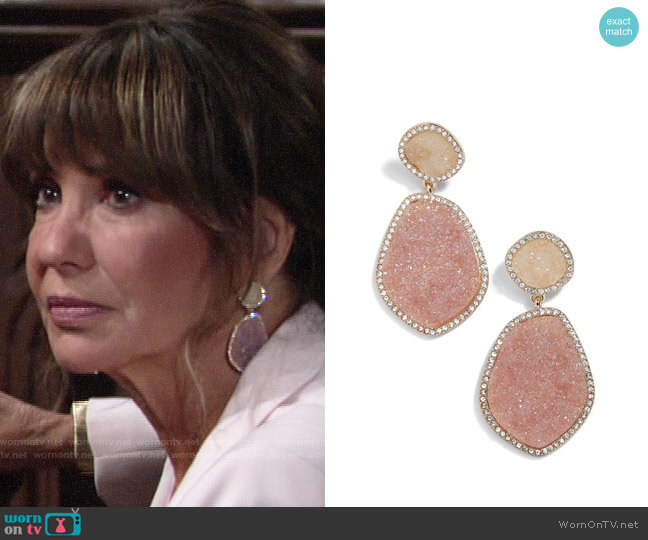 Baublebar Vina Drop Earrings worn by Jill on The Young and the Restless worn by Jill Abbott (Jess Walton) on The Young & the Restless