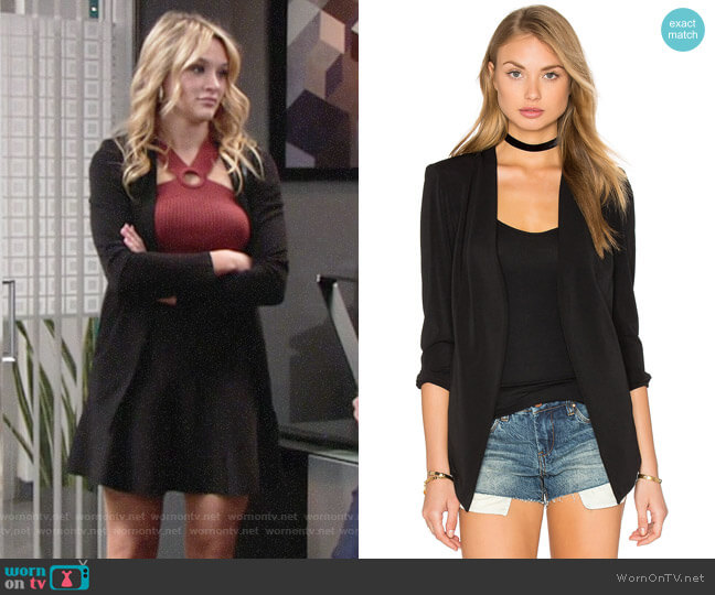 Bcbgeneration Essential Blazer worn by Summer Newman (Hunter King) on The Young & the Restless