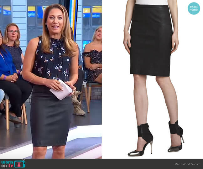 Leah Skirt by Bcbgmaxazria worn by Ginger Zee  on Good Morning America