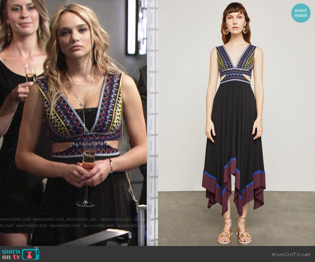 Bcbgmaxazria Embroidered Handkerchief Dress worn by Hunter King on The Young & the Restless