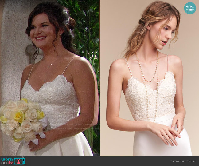 BHLDN Havana Corset Top worn by Katie Logan (Heather Tom) on The Bold & the Beautiful