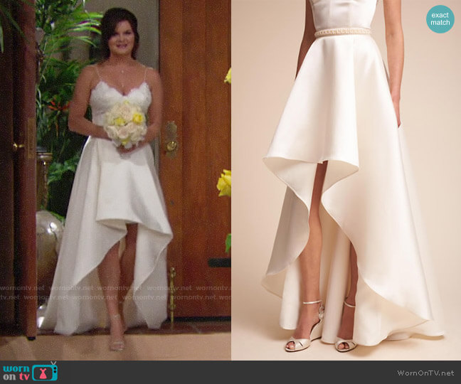 BHLDN Zelda Skirt worn by Katie Logan (Heather Tom) on The Bold & the Beautiful