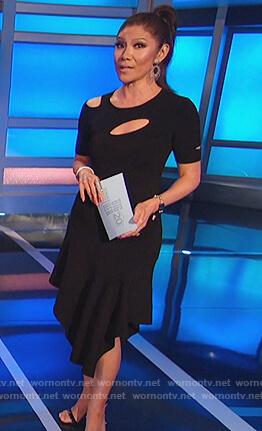 Julie's black cutout dress on Big Brother