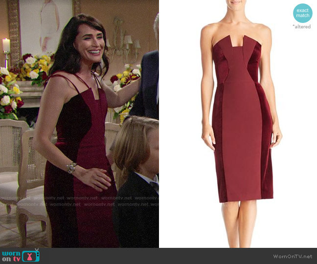 Black Halo Lena Dress worn by Rena Sofer on The Bold & the Beautiful