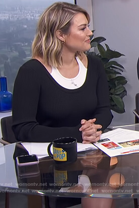 Carissa's black layered dress on E! News Daily Pop