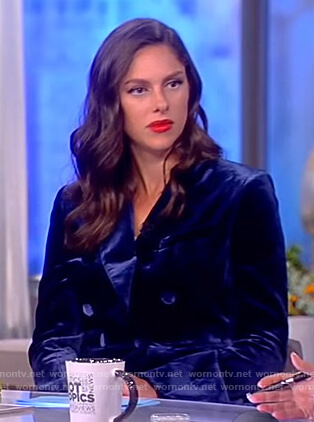 Abby's blue velvet suit on The View