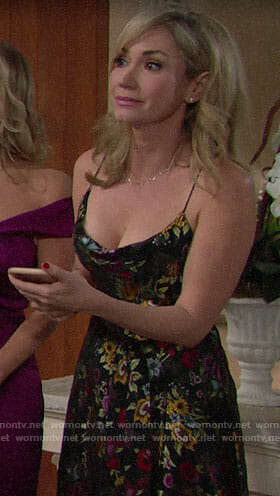 Bridget's floral dress on The Bold and the Beautiful