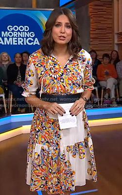 Cecilia's geometric print dress on Good Morning America