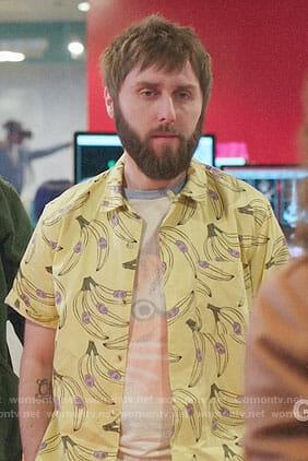 Chewey's banana print shirt on I Feel Bad