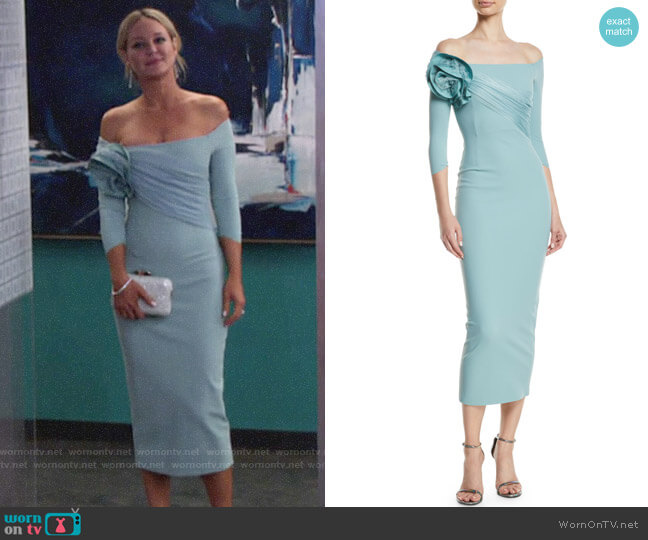 Chiara Boni La Petite Robe Alytin Dress worn by Sharon Case on The Young & the Restless