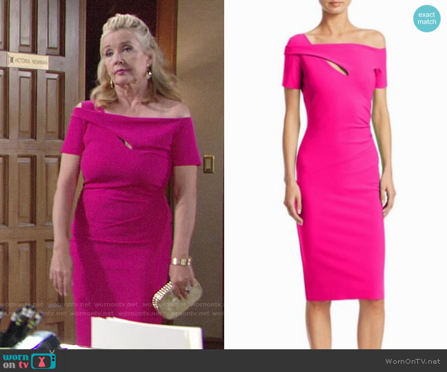 Chiara Boni La Petite Robe Cutout Knee-Length Dress worn by Nikki Reed Newman (Melody Thomas-Scott) on The Young & the Restless