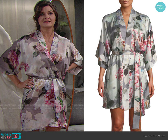 Christine Lingerie Jolie Robe worn by Heather Tom on The Bold & the Beautiful