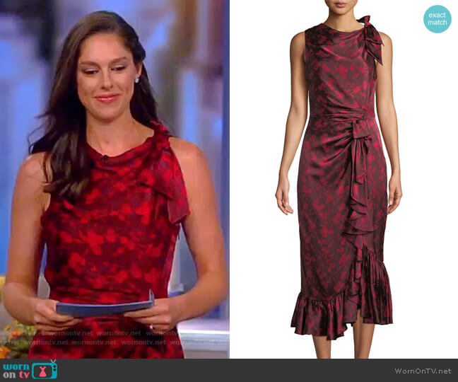 Nanon Dress by Cinq a Sept worn by Abby Huntsman (Abby Huntsman) on The View