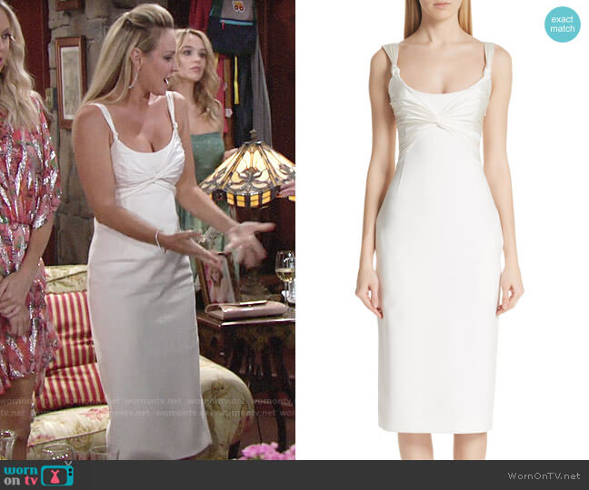 Cinq a Sept Amina Dress worn by Sharon Collins (Sharon Case) on The Young & the Restless