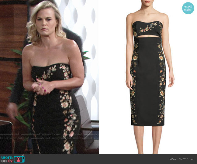 Cinq a Sept Clemence Dress worn by Phyllis Newman (Gina Tognoni) on The Young & the Restless