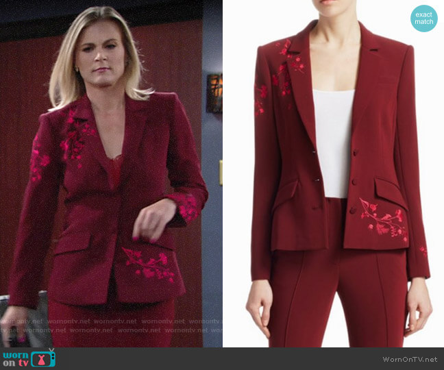 Cinq a Sept Gabrielle Blazer worn by Gina Tognoni on The Young & the Restless
