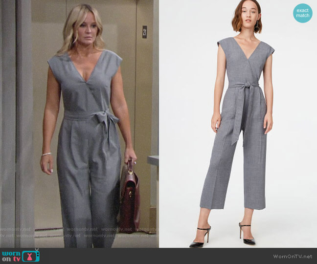 Club Monaco Lorenny Jumpsuit worn by Sharon Collins (Sharon Case) on The Young & the Restless