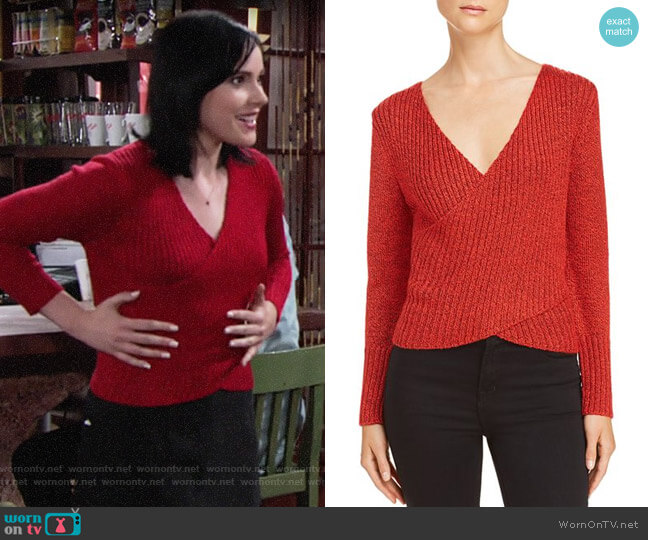 C/Meo Collective Evolution Crossover Sweater worn by Tessa Porter (Cait Fairbanks) on The Young & the Restless