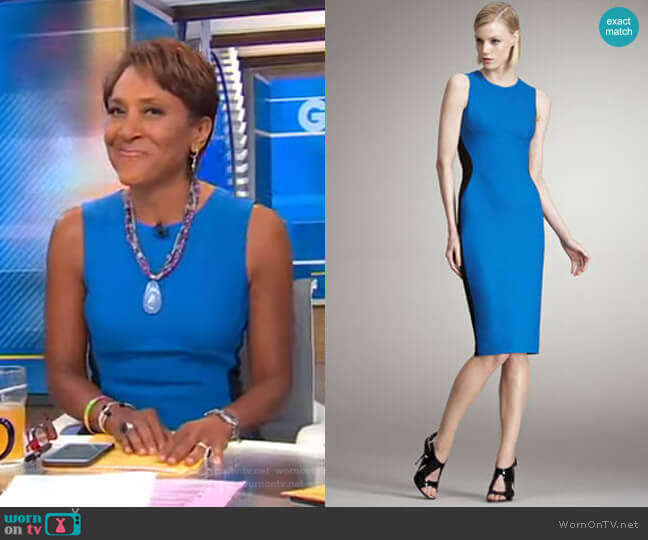 Colorblocked Sheath Dress by Stella McCartney worn by Robin Roberts  on Good Morning America