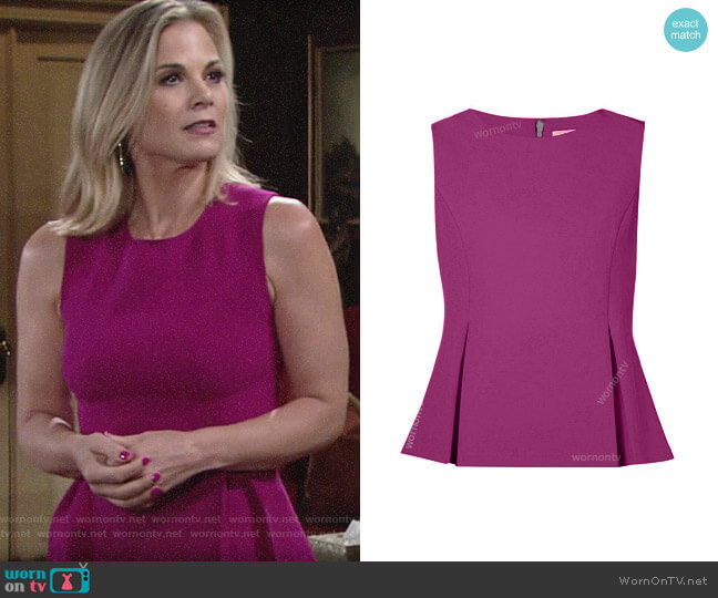 Diane von Furstenberg Mallorie Top worn by Phyllis Newman (Gina Tognoni) on The Young & the Restless