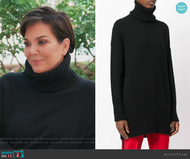 Oversized Jumper by Dolce & Gabbana worn by Kris Jenner on Keeping Up with the Kardashians