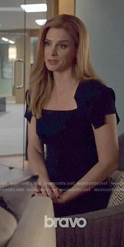 Donna's black short sleeve dress on Suits