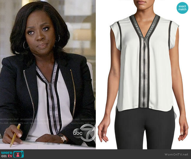Elie Tahari Vallie Blouse worn by Annalise Keating (Viola Davis) on HTGAWM