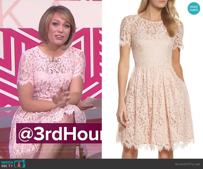 Lace Fit & Flare Dress by Eliza J worn by Dylan Dreyer (Dylan Dreyer) on Today