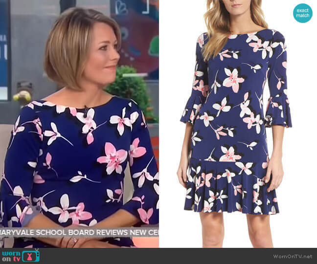 Floral Bell Sleeve Dress by Eliza J worn by Dylan Dreyer (Dylan Dreyer) on Today