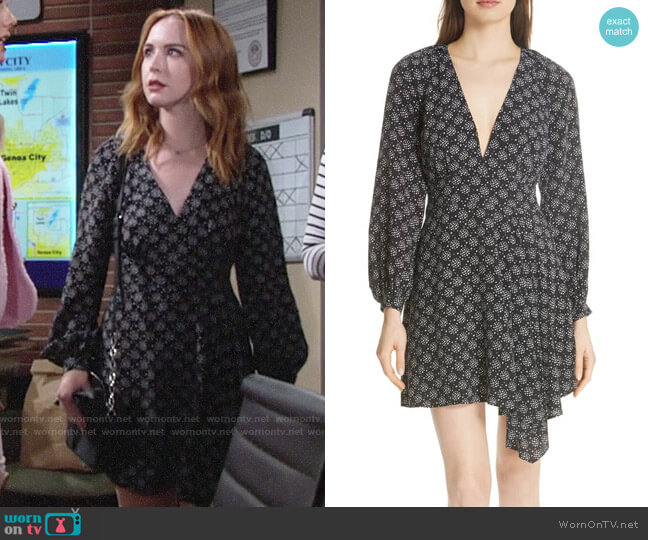 Equipment Alexandria Dress worn by Camryn Grimes on The Young & the Restless