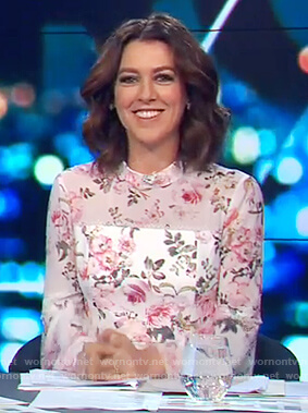Gorgi's floral bell sleeve dress on The Project