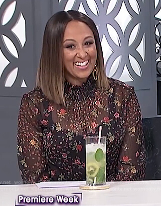 Tamera's sheer floral blouse on The Real