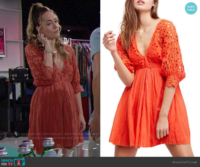 Free People Bella Note Dress worn by Annika Noelle on The Bold & the Beautiful