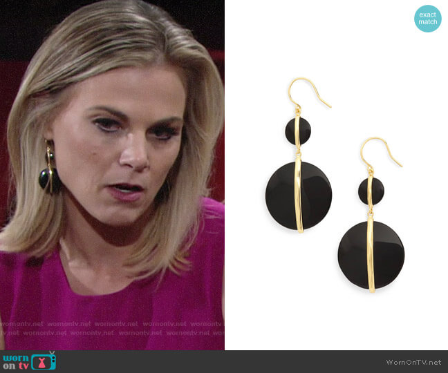 Gorjana Brinn Earrings worn by Phyllis Newman (Gina Tognoni) on The Young & the Restless
