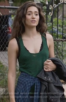 Fiona's green striped tank top on Shameless