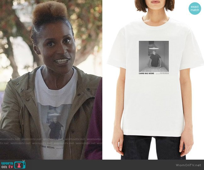 Helmut Lang Carrie Mae Weems Standing Alone T-shirt worn by Issa Dee (Issa Rae) on Insecure