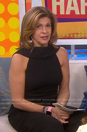 Hoda's black sleeveless jumpsuit on Today