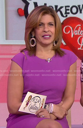 Hoda's purple cutout dress on Today