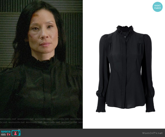 Isabel Marant Sloan Victorian Blouse worn by Lucy Liu on Elementary