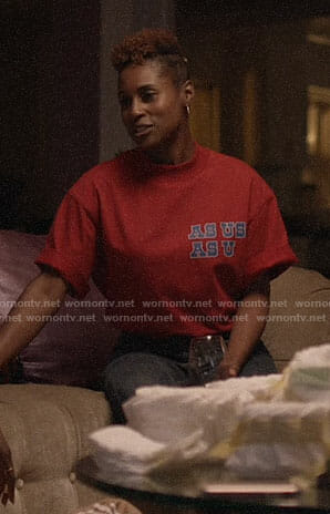 Issa's AS USA AS U tee on Insecure