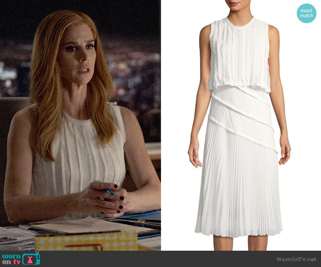 Jason Wu Pleated Popover Dress worn by Sarah Rafferty on Suits