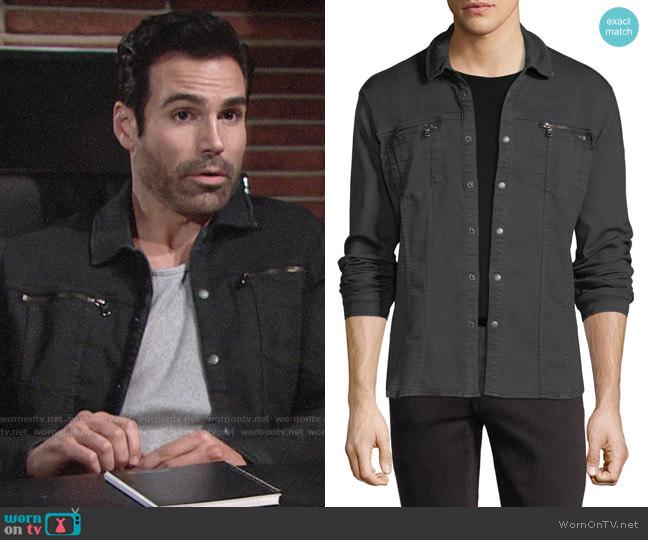 John Varvatos Star USA Denim Knit Shirt Jacket worn by Rey Rosales (Jordi Vilasuso) on The Young & the Restless