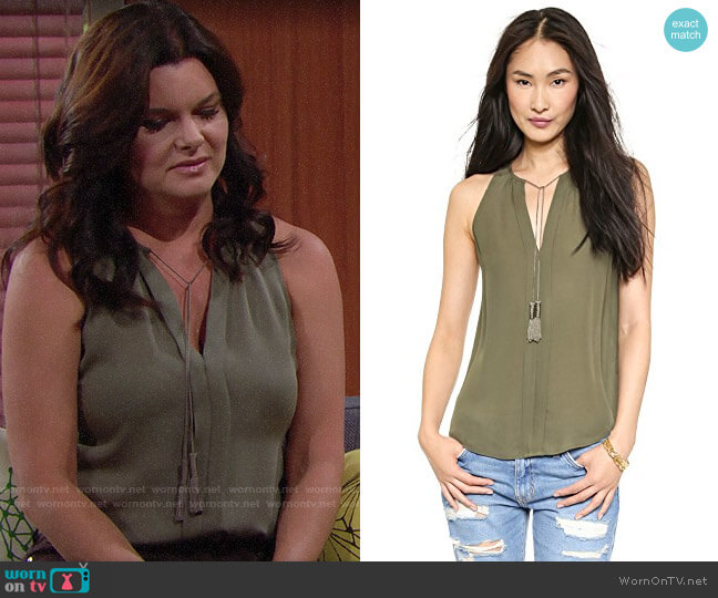 Joie Airlan Top worn by Heather Tom on The Bold & the Beautiful