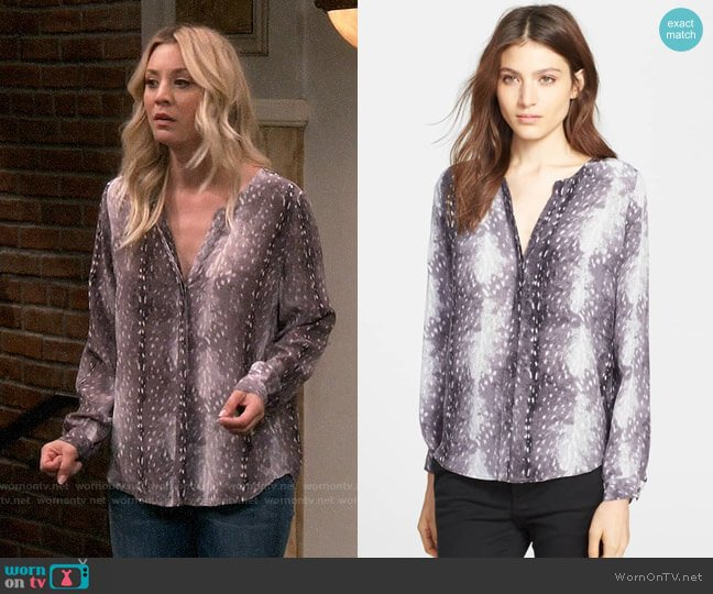 Joie Moema Top worn by Kaley Cuoco on The Big Bang Theory