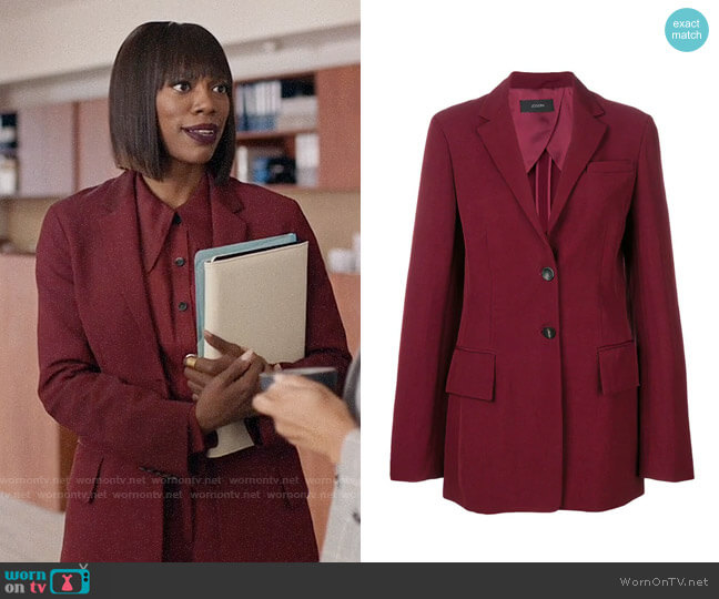 Joseph Classic Fit Blazer worn by Molly Carter (Yvonne Orji) on Insecure