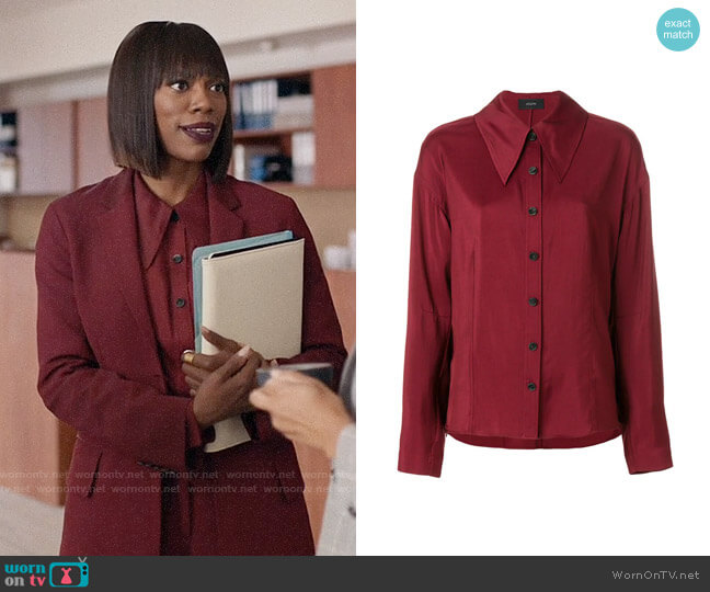 Joseph Pointed Collar Shirt worn by Yvonne Orji on Insecure