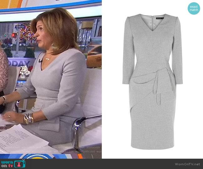 Folded Pencil Dress by Karen Millen worn by Hoda Kotb on Today